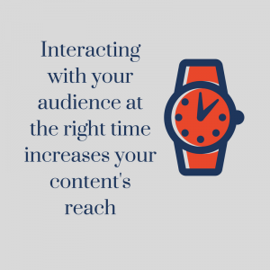 Correct time of content for audience