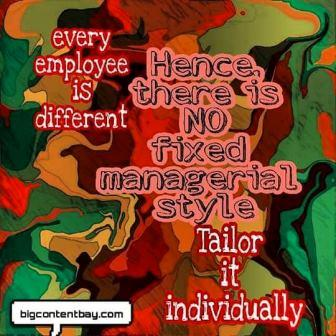 tailored managerial style