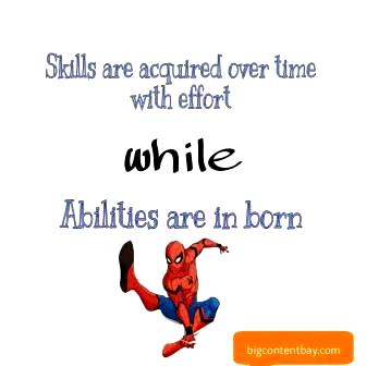 Difference Between Skills & Abilities