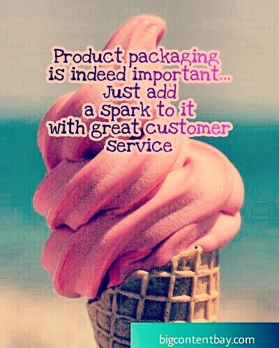 Customer Service Accompanies Product Packaging
