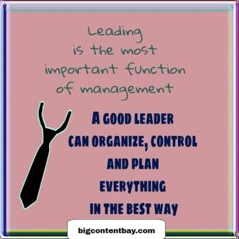 What Does a Good Leader Have?