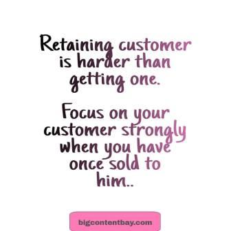 Focus on Current Customers