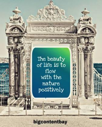 beauty of life is positivity