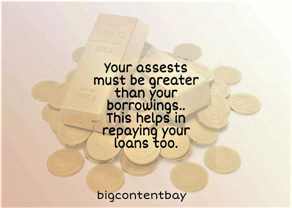 Assets Should Be Greater Than Loans