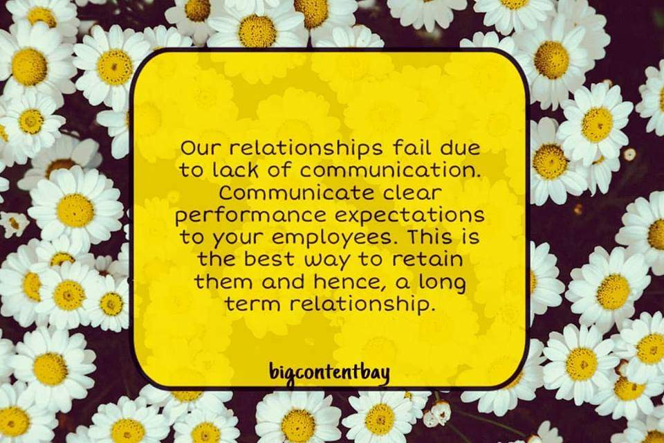 Communicate Clear Expectations