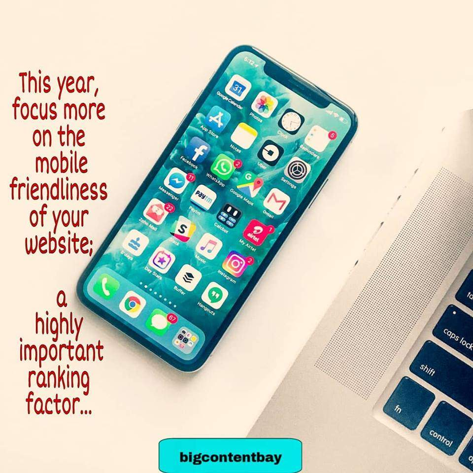 Focus On Mobile Friendly Site