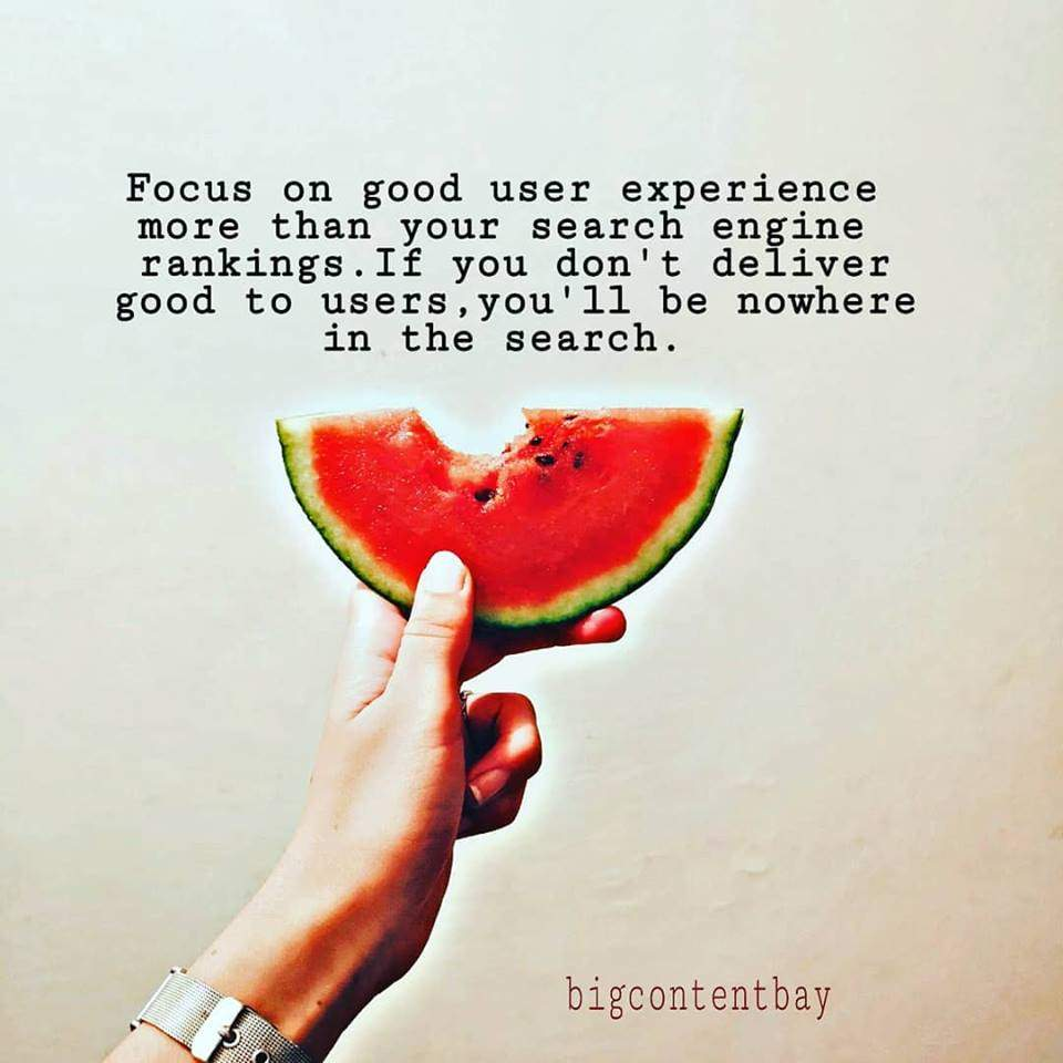 Focus On User Experience