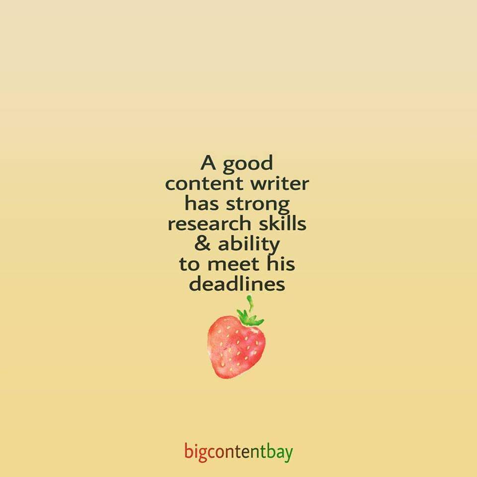 Quality Of Good Content Writer