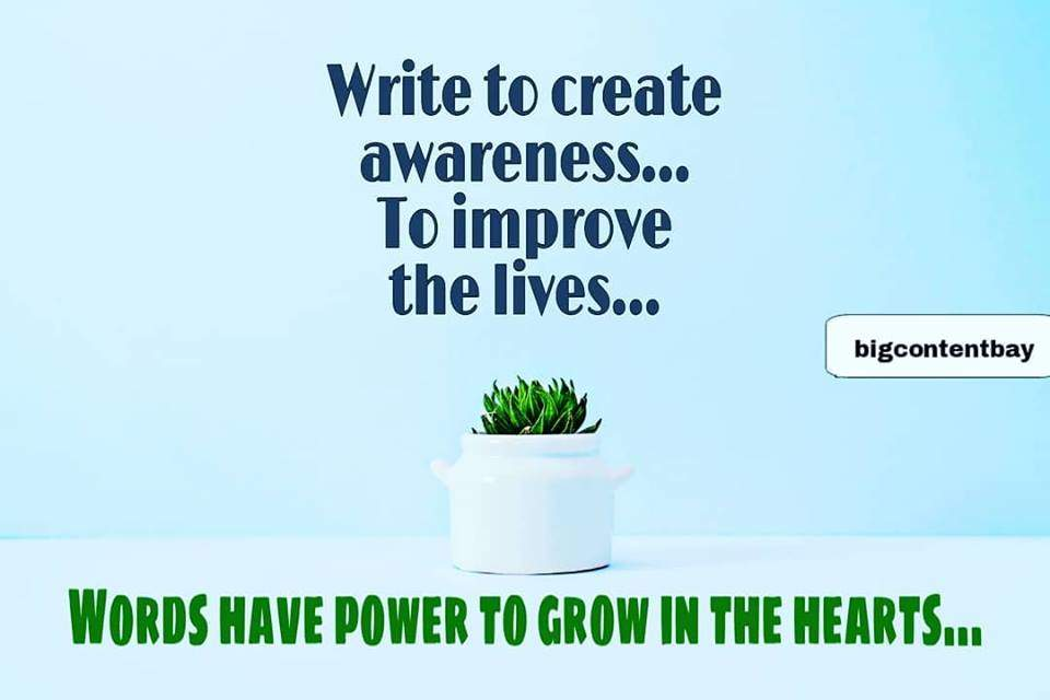 Write To Create Awareness